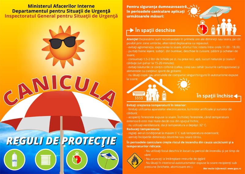 1 Canicula Reguli de protecție în perioadele caniculare
